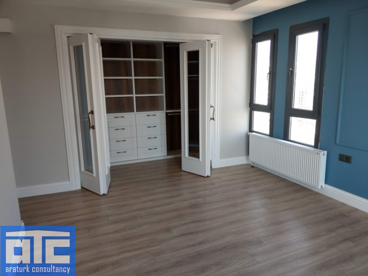 Master bedroom with dressing room